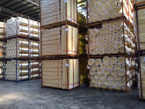 Insulation ready to be shipped.