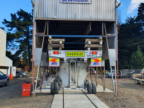 Positioning the wood processing kiln