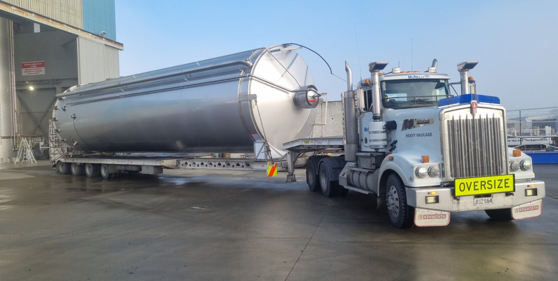 120,000L Milk silo on the way to Pokeno in South Auckland