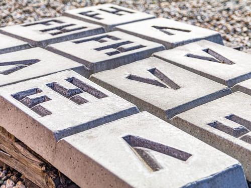 Allied Materials precast concrete marker blocks
