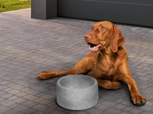 Allied Materials precast concrete dog bowl