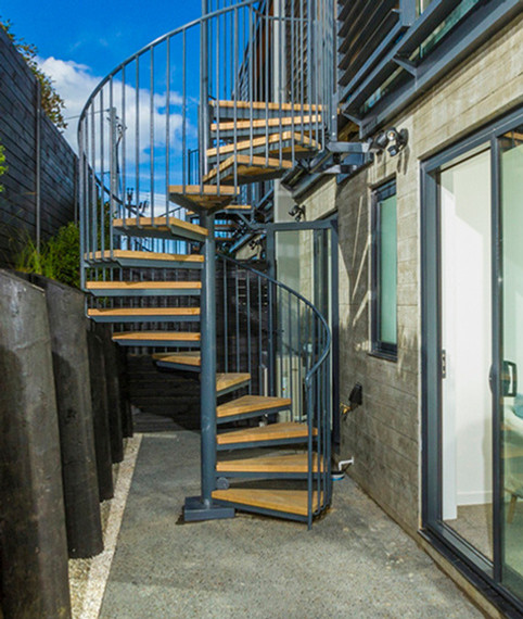 Interior and exterior staircases & spiral staircases shipped New Zealand-wide.