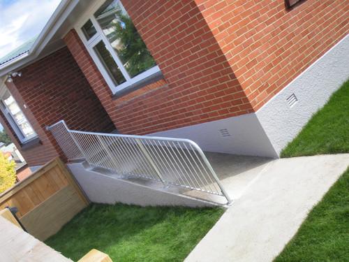 Handrail for ramp