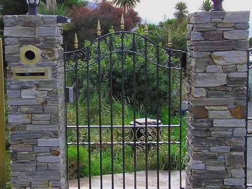 Classic black wrought iron gate