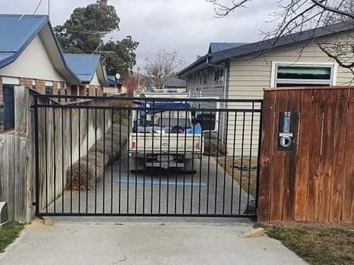 Black swing gate