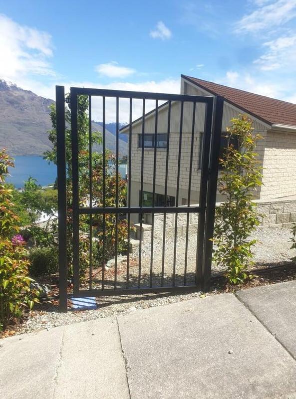 Matching pedestrian Gate by Otago Engineering