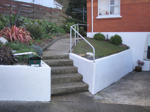 Decorative handrail adds character