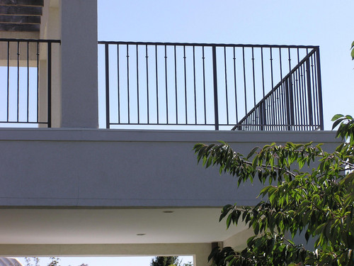 Balustrade at deck area