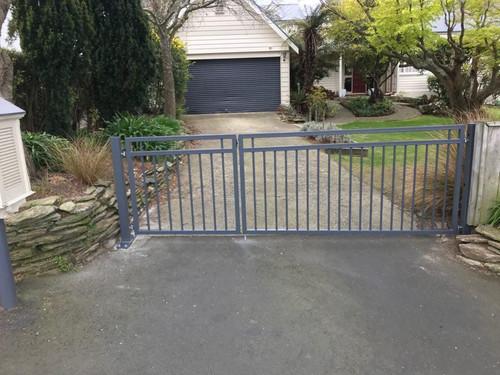 Simple design driveway and pedestrian gates