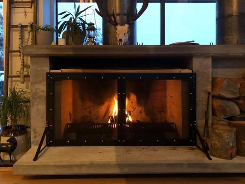 Metal fireguard made by Otago Engineering