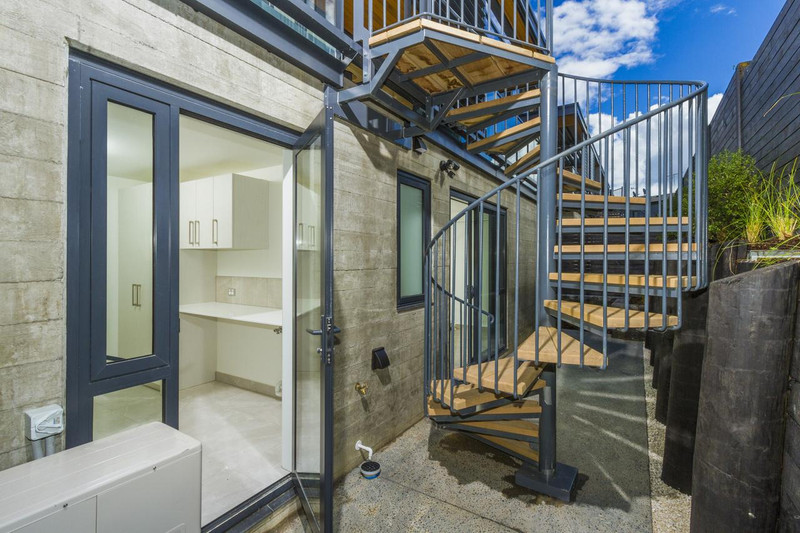 Exterior spiral staircase installed in Auckland
