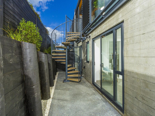 Completed Spiral Staircase, manufactured by Otago Engineering, installed into new Auckland apartments.