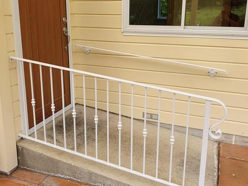 White iron balustrade
