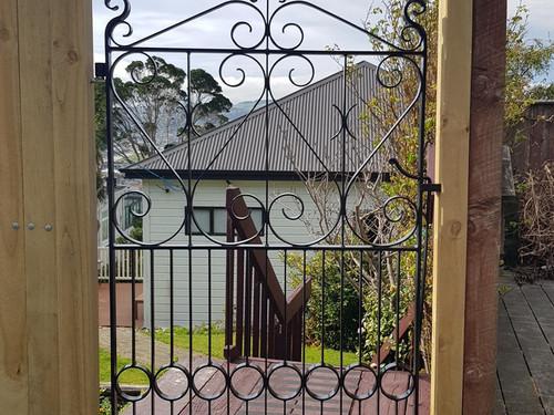 Classic decorative wrought iron gate