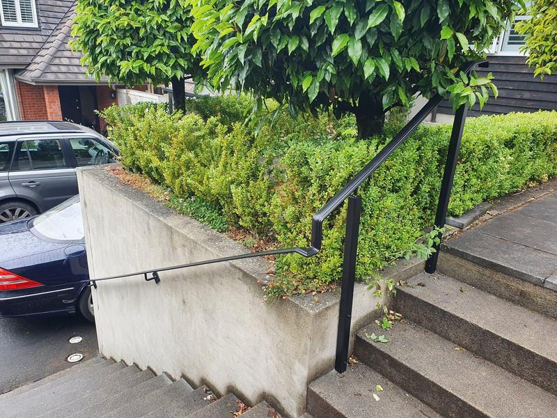 Iron handrail by Otago Engineering looking great