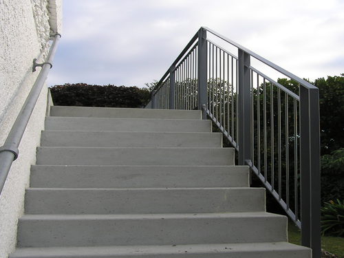 Handrail and balustrade on stairs