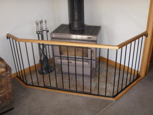 Timber top fireguard by Otago Engineering formerly A.J Grant