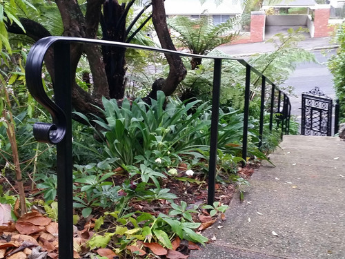 Handrail to protect a garden