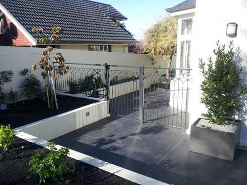 Decorative gate and fence by Otago Engineering