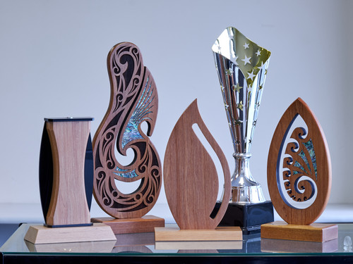 Cultural awards in wood and metal
