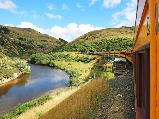 Middlemarch New Zealand from the Taieri Gorge Train