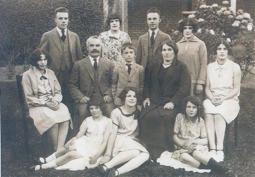 Back Row: Paul, Queenie, Ike, Victoria Middle Row: Jamelia, Joseph, John, Christina, Vera Front Row: Rose, Marie, Madeline