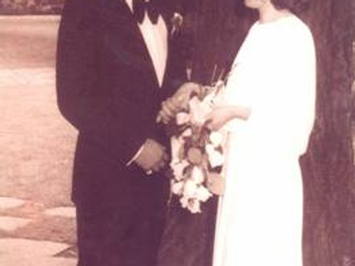 Richard and Lyn on their wedding day