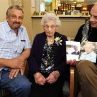 Denis & Gerard Betro with their Mother, Alma, on her 100th birthday.