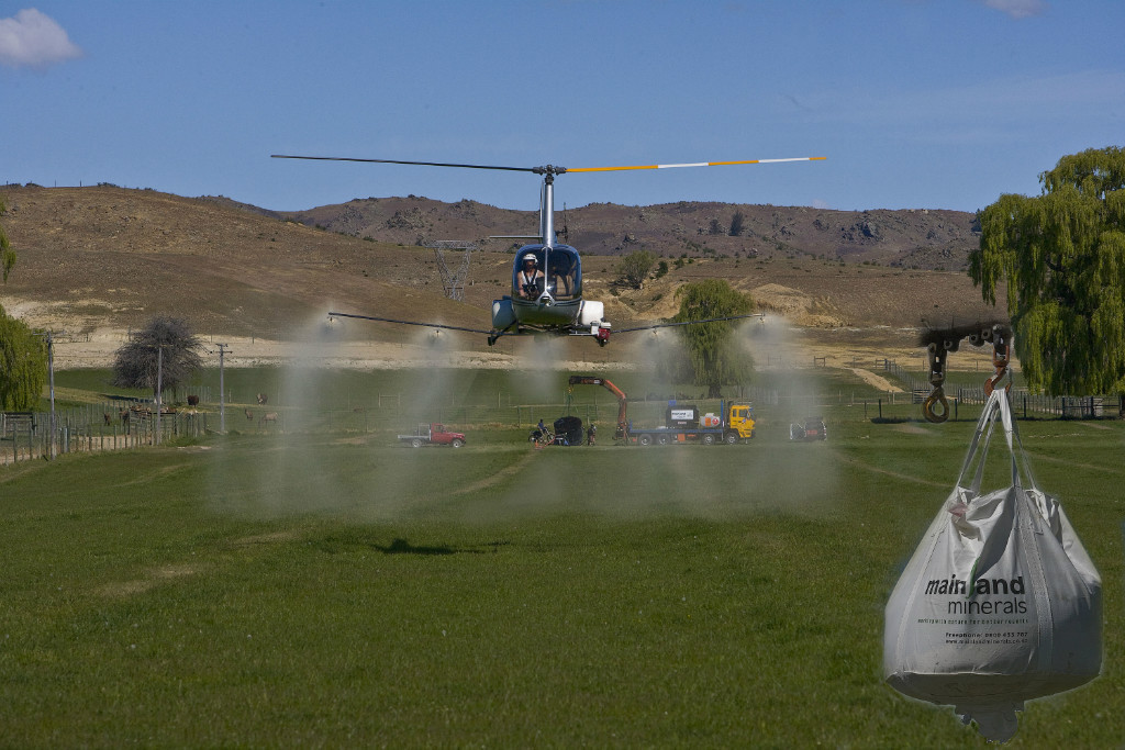 Helicopter application, also option of groundspread or fixed wing application.