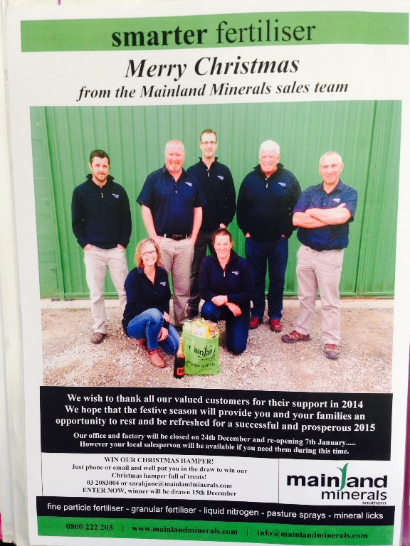 Mainland Minerals sales reps