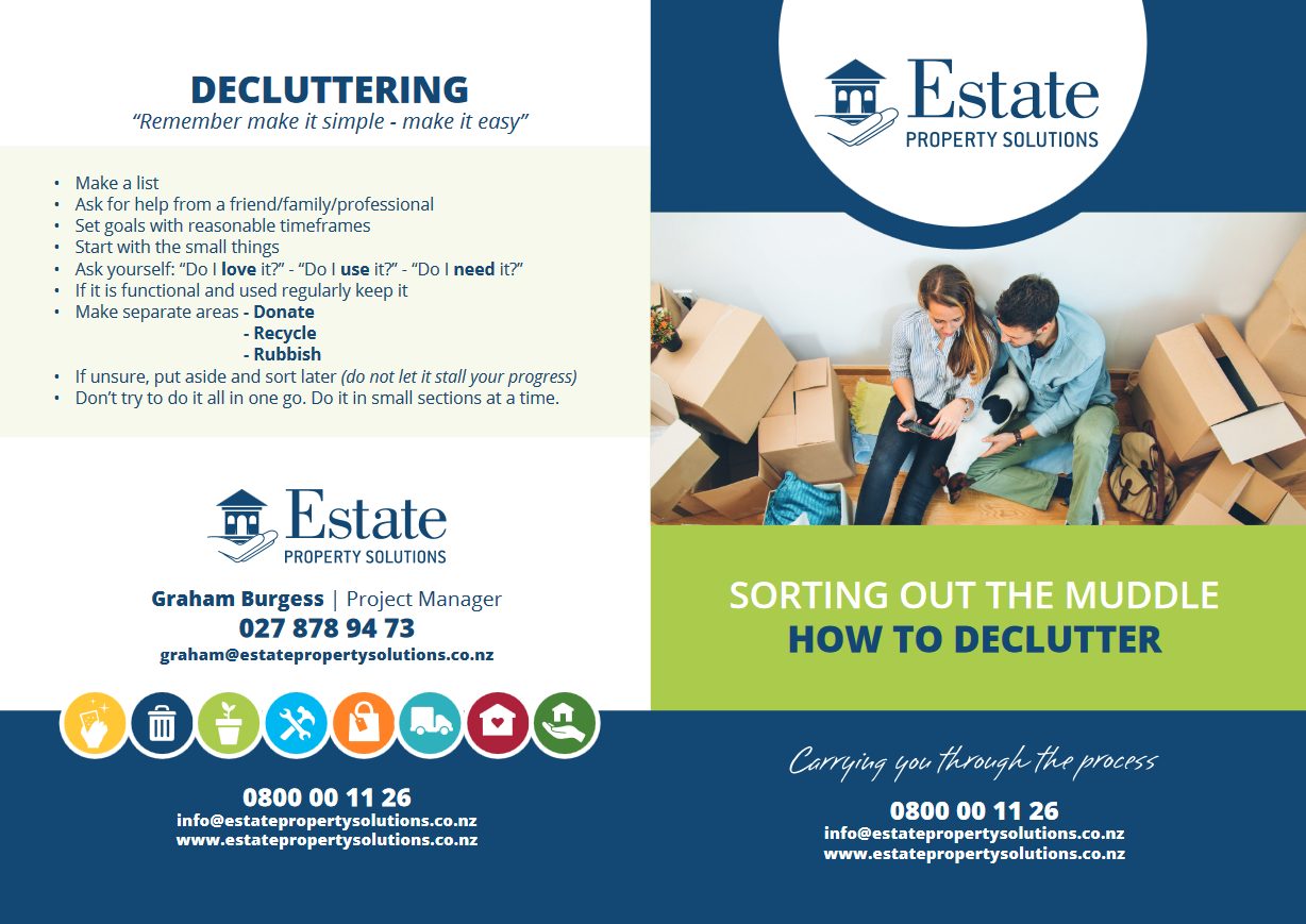 Decluttering Brochure for Estate Property Solutions designed by Turboweb
