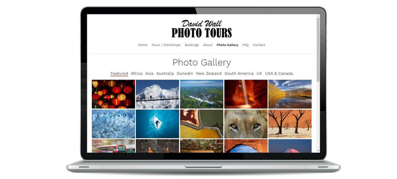 David Wall Photo Tours uses Turboweb's mosaic image gallery