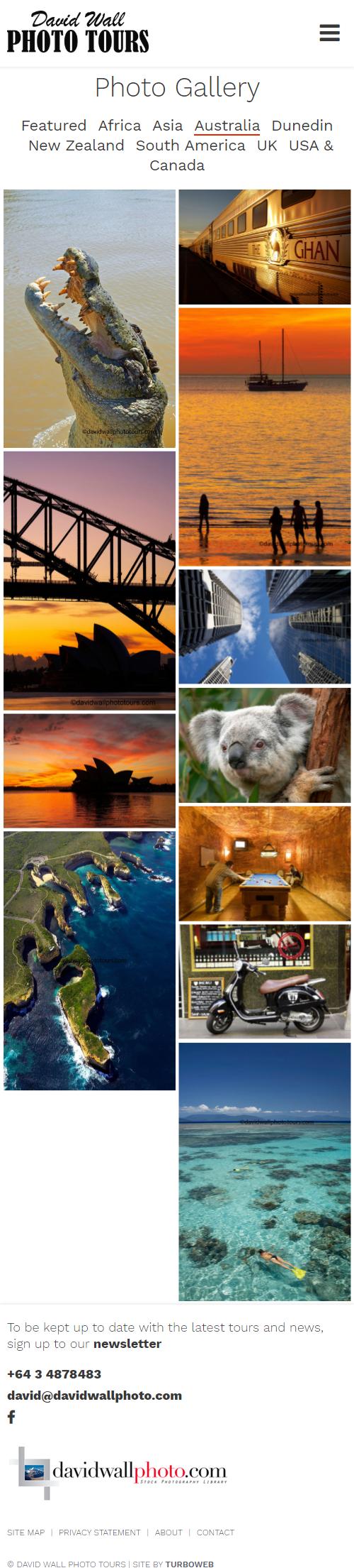 Mosaic image gallery by Turboweb screenshot