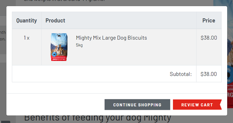 An example of Turboweb's shopping cart