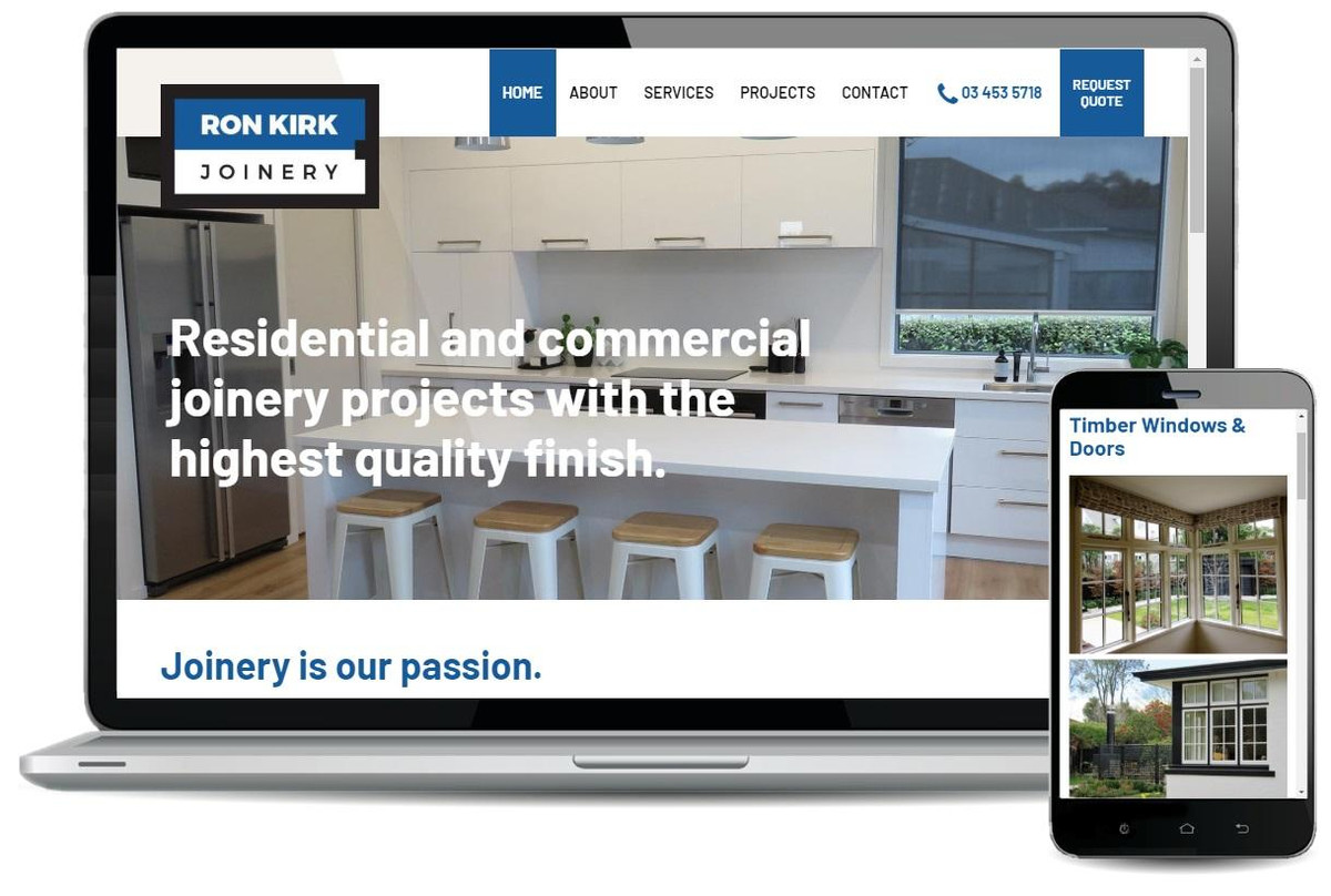 Turboweb website development for Ron Kirk Joinery