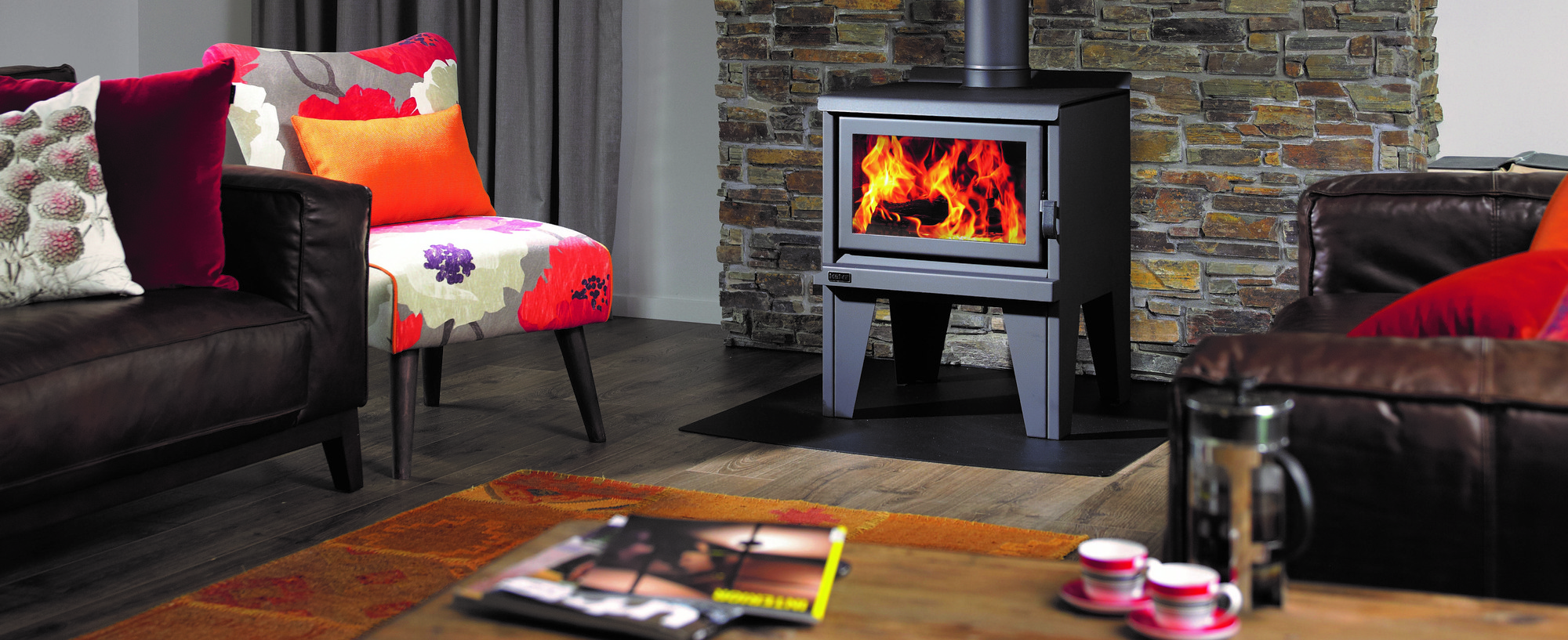 Banner of a kent fireplace sold by Hotspot Installations, a website created by Turboweb Ltd