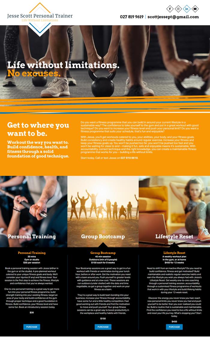 Jesse Scott website by Turboweb preview