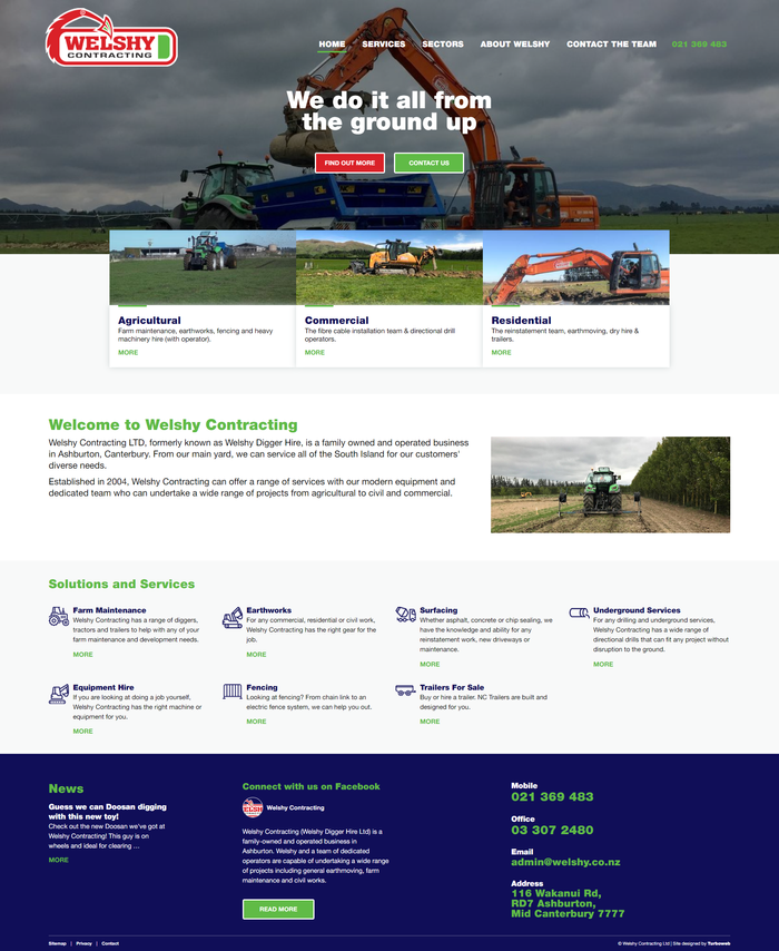 Welshy Contracting - Website by Turboweb