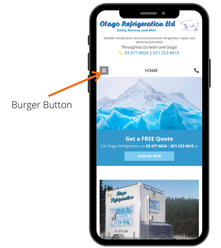 Look for a burger menu button on your phone or tablet