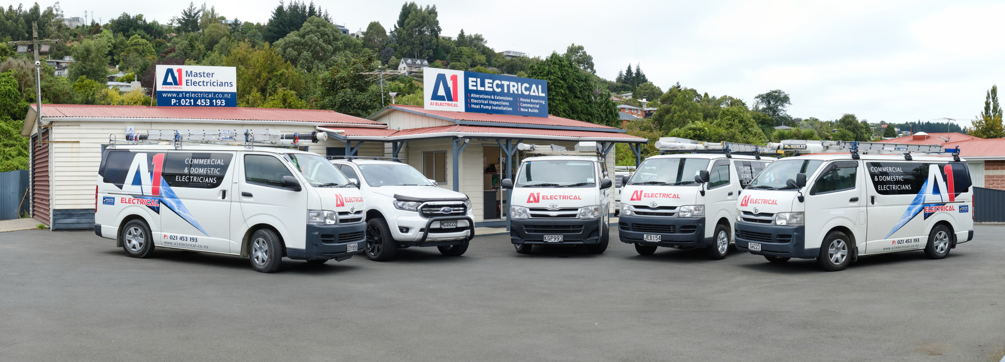 A1 Electrical premises and vehicles. Website by Turboweb.