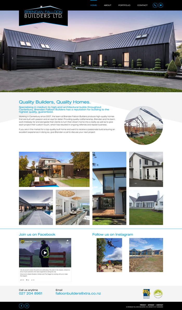 Brendan Falloon Builders website by Turboweb