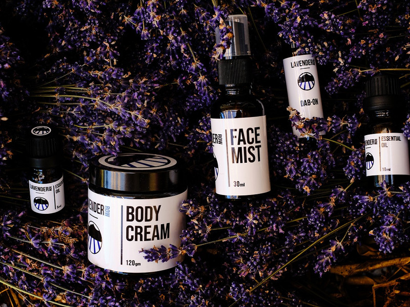 Lavender Row product photography by Turboweb