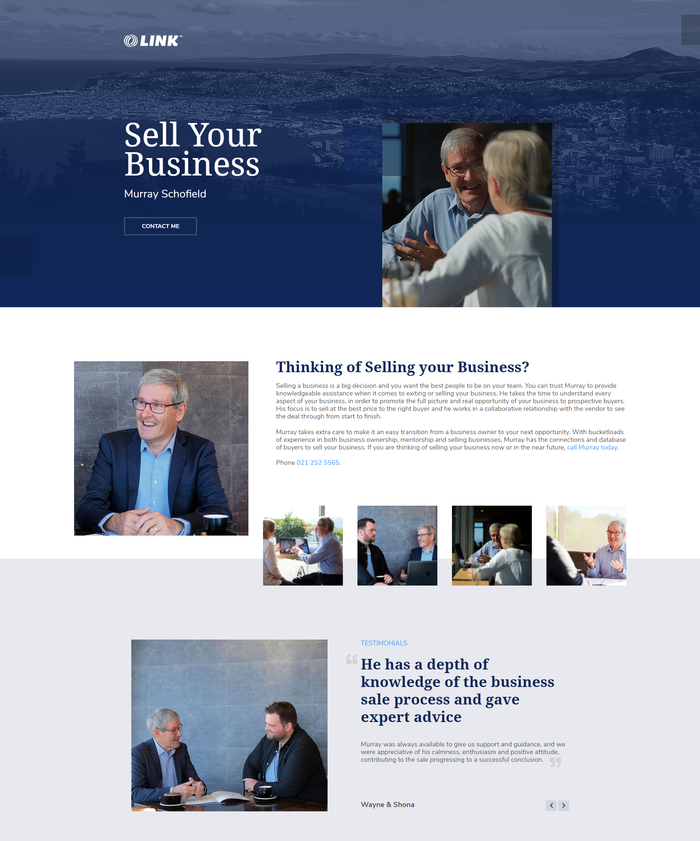 Murray Schofield Sell Your Business website