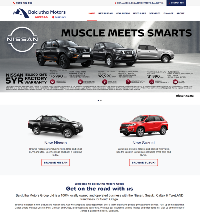 Balclutha Motors Group Website by Turboweb