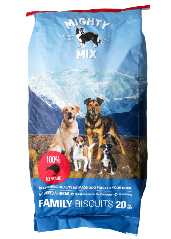 Mighty Mix Family Dog Biscuits