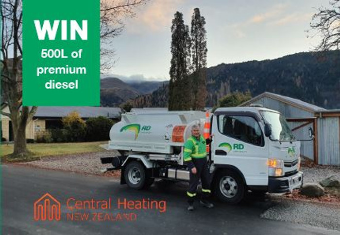 WIN 500L of premium diesel with RDP & Central Heating New Zealand