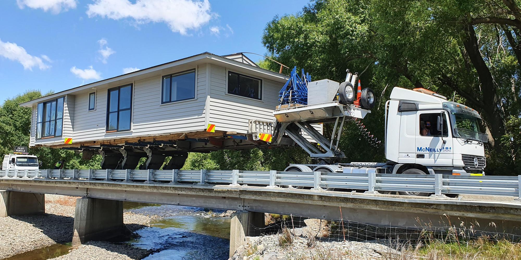 McNeilly Heavy Haulage building relocation, heavy haulage, piloting and project management New Zealand