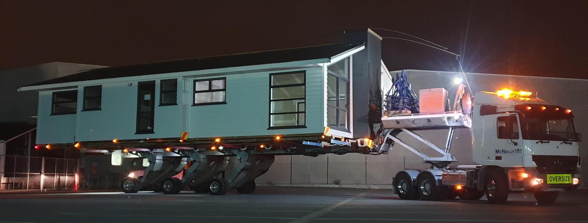 McNeilly Heavy Haulage moving a house moving overweight and over-dimension loads