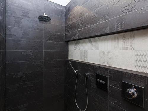 The master bedroom bathroom shower