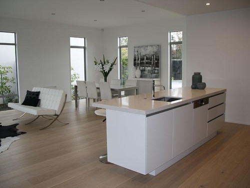 The kitchen design includes a granite benchtop